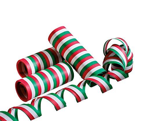 Luftschlangen grün-weiß-rot 3er Pack
