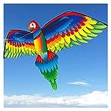 XXJIC Kites de Loros 3D, Kite Grande para Adultos y una Cometa fácil de Volar para niños |La Cometa Extra Grande Tiene una Enorme Enamorada y Cuerpo Interesante Juguete Kite