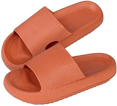 MFFACAI Pantuflas Ultra Suaves, Pantuflas de Casa Súper Suaves, Toboganes Tipo Almohada, Zapatos de Suela Gruesa Antideslizantes para El Baño, Toboganes de Ducha de Secado Rápido