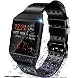Beaulyn Smart Watches, Fitness Trackers Smartwatch Colorful Screen with Heart Rate, Sleep Tracking