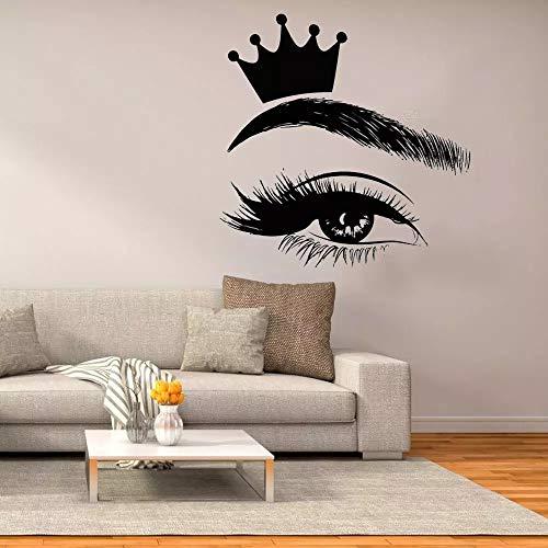 WERWN Wimpernwand Wimpernfenster Vinylaufkleber Schönheitssalon Frauen Wimpernkunst Innendekoration Kronenwandbild