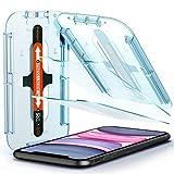 Spigen protector de pantalla de vidrio templado Spigen [Glas.tR EZ Fit] diseñado para iPhone 11 (2019) / iPhone XR (2018) - 2 paquetes