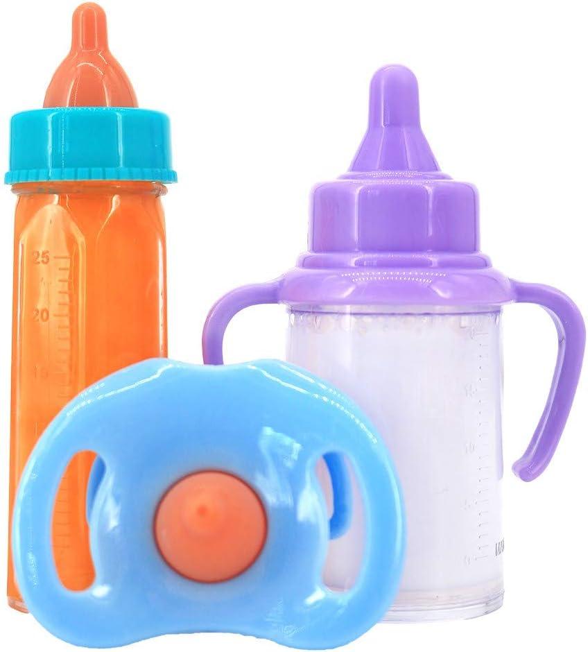 biberon de lait biberon magique biberon t/éton #A biberon Uteruik Lot de 3 accessoires de d/écoration pour maison de poup/ée