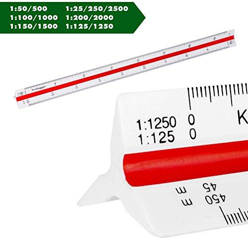 Maßstab Dreikantlineal Dreieck Dreikantmaßstab Scale Ruler Dreieckig Maßstab für Architekten landschaftsarchitekten Ingenieur