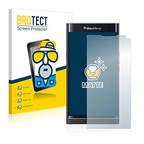 BROTECT 2X Entspiegelungs-Schutzfolie kompatibel mit BlackBerry Priv Bildschirmschutz-Folie Matt, Anti-Reflex, Anti-Fingerprint