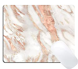 Faux Marble/Rose Gold Mouse Pad on Amazon for $8.99