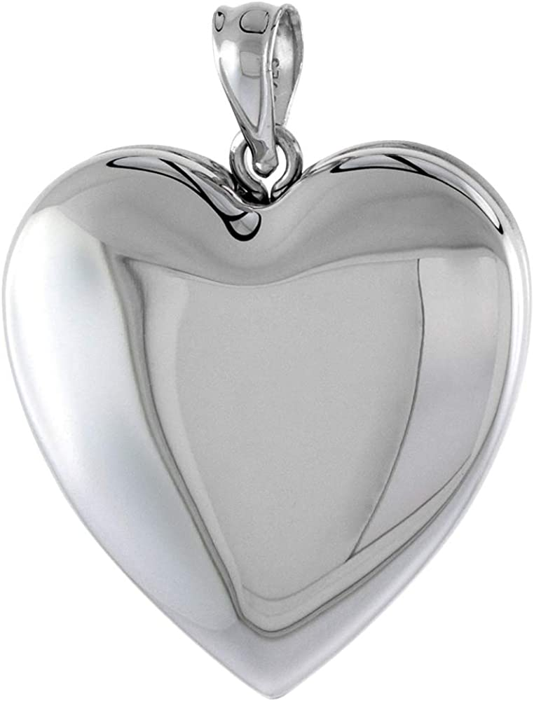 1 inch Sterling Silver Plain Heart Locket for Necklace 16- Women store 2021new shipping free shipping