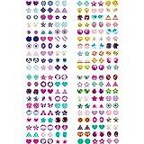 Blulu 480 Pezzi Adesivo Orecchini 3D Adesivo per Gemme Bastone delle Principesse sugli Orecchini Adesivi Glitter Autoadesivi (Stile A)