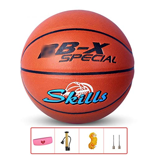 Read About YE ZI Basketballs- Standard Basketball Indoor and Outdoor No. 7 Basketball Size 9.7 inche...