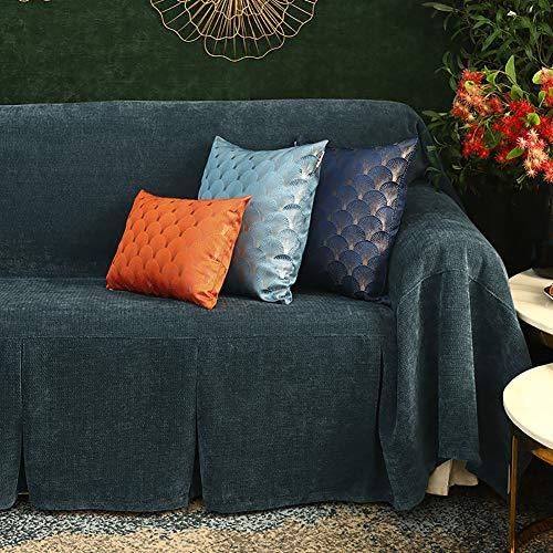 TIYKI Color Puro Cubierta Forros para Sofas,Felpa Funda De Sofa,Cubierta del Sofá para Mascotas,Super Stretch Funda para Sofá,Cubiertas De Sofá Grueso 1 2 3 4 Seater-Azul. 2 Seaters
