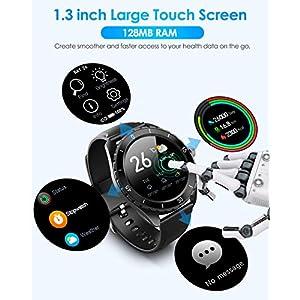 ELEGIANT SmartWatch, Reloj Inteligente IP68 con Pantalla Táctil de 1.3'', Pulsera Actividad Inteligente Hombre Mujer Niños para Deporte, Monitor de Actividades, Podómetro Cronómetros para iOS Android