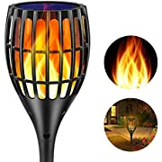 Ollivage Solar Torch Light, Waterproof Flickering Flames Torches Lights 42.9inch