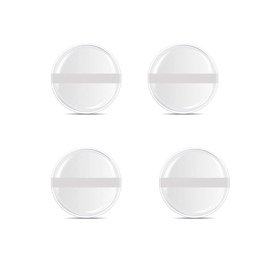 脆い効率延期する4枚入円形 4入りシリコンパフ 帯付き メイクスポンジ ゲルパフ ゼリーパフ 清潔しやすい衛生 柔らかく
