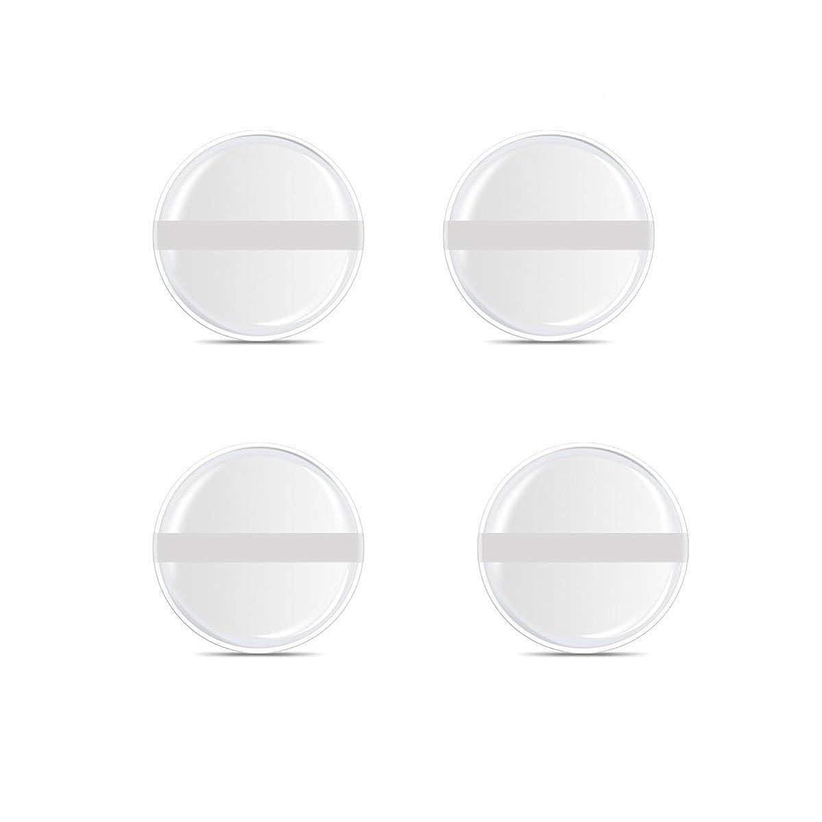 シート一致降雨シリコンパフ 帯付き メイクスポンジ (円形 4入り)