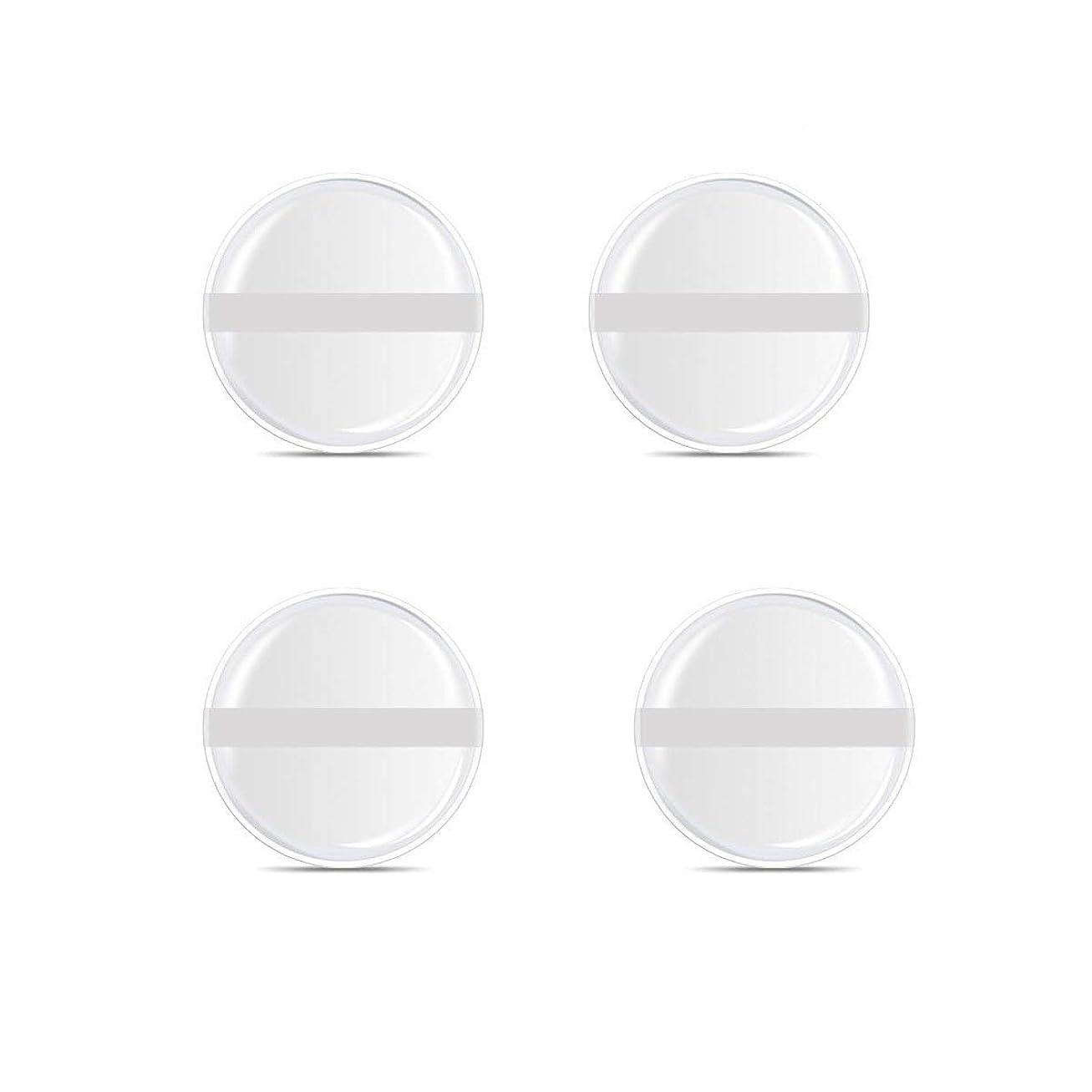 終わりレコーダー利点シリコンパフ 帯付き メイクスポンジ (円形 4入り)