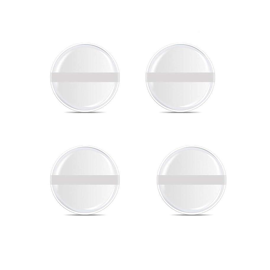 雑多なフックやめるシリコンパフ 帯付き メイクスポンジ (円形 4入り)