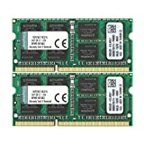 Kingston ノートPC用メモリ DDR3-1600 (PC3-12800) 8GBx2枚 CL11 1.5V Non-ECC SO-DIMM 204pin KVR16S11K2/16 永久保証