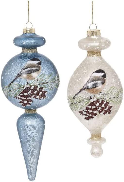 Mark Roberts 2021 Frosted Bird Dealing full price reduction Finial Ornament Ranking TOP2 Assortment 6-8''