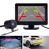 """Teabelle 4.3""""Kit de Cámara de Visión Nocturna Trasera con Reversa para Automóvil y Monitor TFT LCD"""
