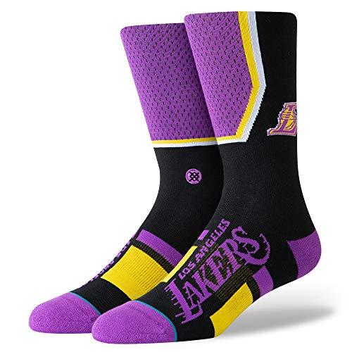 Stance Lakers Chaussettes courtes pour homme Violet Taille M