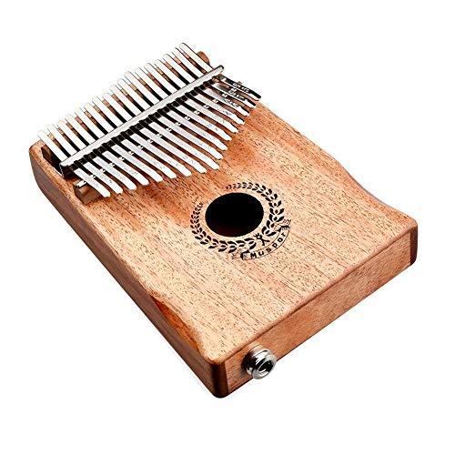 fgfh 17-Ton-Elektrobox Mahagoni Daumen Klavier Kalimba Finger Klavier mit Tasche + Line-Girlande