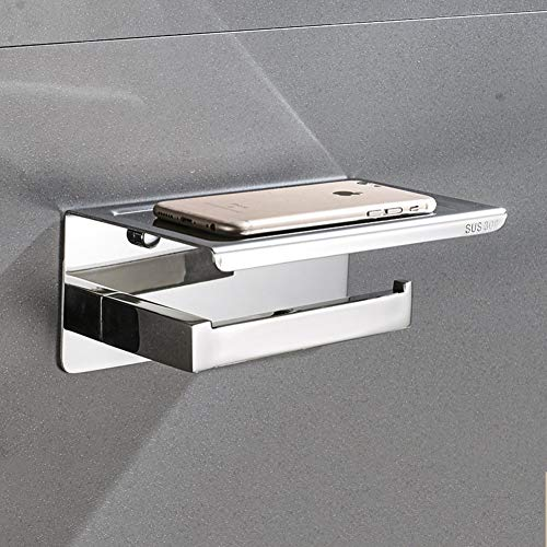 GFFTYX Soporte para Papel higiénico de Montaje en Pared Soporte para Papel higiénico para baño Soporte para Papel higiénico Dispensador de Rollo de Papel higiénico Soporte para teléfono móvil Multi