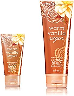 Bath & Body Works One for home & One for Travel – ULTRA SHEA Body Cream Set – Warm Vanilla Sugar