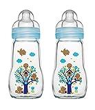 MAM 67036711 - 2 Stück Feel Good Glass Bottle 260