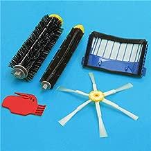 DORLIONA 5pcs 6-Armed Brush Bristle Brush Beater Brush with Filter for iRobot Roomba 600 Series Vacuum Part