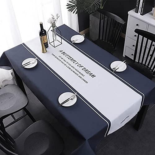 XXDD Mantel de Simplicidad nórdica Mantel Mesa Decoración de Boda Decoración de Fiesta Rectángulo Mantel Moet Chandon A2 150x210cm