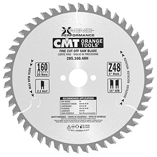 CMT 285.160.48h cirkelzaagblad voor het snijden van nauwkeurigheid (serie industrie), metaal/grijs