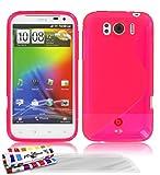 Muzzano F24S07-3111452 - Funda para HTC Sensation XL, con 3 protectores de pantalla, color rosa
