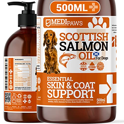 MediPaws® Scottish Salmon Oil For Dogs 500ml | Supports Dog Skin And Coat,...