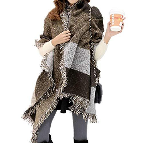 Miss Lulu Mujer Bufandas Invierno Bufandas Largas de Invierno Cozy Grib Grande Chal Cálido Moda