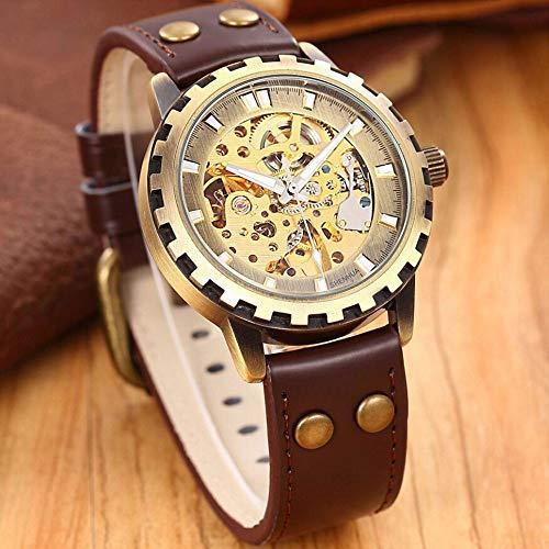SJXIN Hochwertige mechanische Uhr, Shenhua / 9560 Uhr Bronze Gang mechanische Herrenuhr (Color : 1)