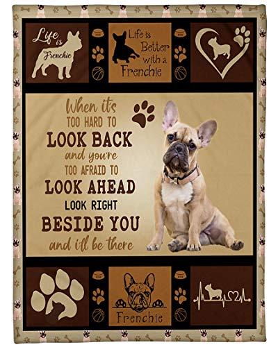 HANEUL LLC KR Fleece Blanket French Bulldog When It's Hard to from Grandma or Grandpa, Fleece Luxury Blanket Throw Lightweight Cozy Plush Throw Blanket 30x40 inch