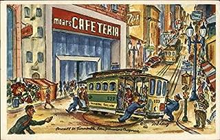 Moars Cafeteria San Francisco, California Original Vintage Postcard