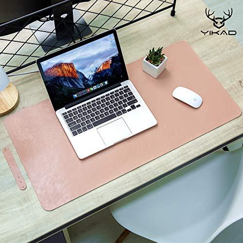 Yikda Leather Mouse pad Desk mat, Microfiber Leather Desk pad Large Mouse pad, Waterproof Desk Mat for Desktop ?31x15.7 Pink