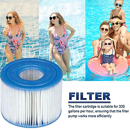WEIMOU for intex S1 Pool Replacement Filter, Swimming Pool Filter Cartridge, for PureSpa Type S1, 29001E, 11692 Spa Filter (8PCS)