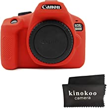 kinokoo Silicone Case for Canon EOS 3000D 4000D EOS Rebel T100 Protevtive Cover  red