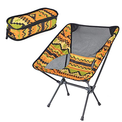 Lightweight Folding Camping Chair, with Park for Backpacking Camp Picnic Outdoors Festival Beach Ultralight Camping Chair-yellow_one size