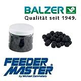Mini Boilies Balzer Method Feeder schwarz Blut / Leber 10 mm