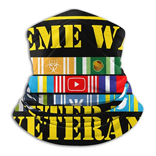 XXWKer Calentador de Cuello Deporte Calentador Pasamontañas Polar Máscara Meme War Veteran Neck Cover Neck Warmer Winter Neck Warmer