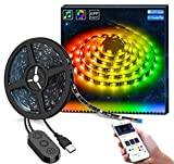MINGER DreamColor LED Streifen Led band, 2M USB led Strip mit eingebautem IC, wasserdichte LED...