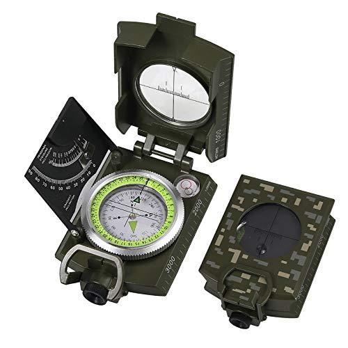 Proster Multifunktionale Kompass Wasserdichter Navigation Klinometer mit Fluoreszierende Anzeige Neigungsmesser mit Tasche für Wandern Camping Klettern Entdeckungen Geologie und Outdoor Aktivitäten