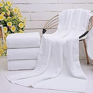 BELLA KLINE DESIGN Large White Terry Bath Towels Sheet 34 x 70 Inch