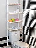 Keraiz F2-E9PZ-UOM1 4 Tier Kitchen Bathroom Storage Shower Caddy Shelf Shelves Adjustable Height (St-59), White