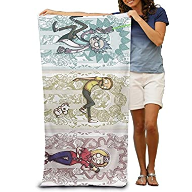 Adult Rick And Morty Characters Absorbent Quick Dry Pool Bath Travel Beach Towel Blank Blanket Extra Large Long 80cm130cm 31.5in51.2in