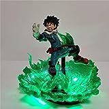 Figura de acción de My Hero Academia, lámpara LED DIY Bakugou Katsuki VS Midoriya Izuku, figuras de acción de PVC modelo Boku no Hero Academia