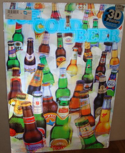 Ice cold Beers lenticular 3D Poster